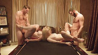 Foursome for the young babes enquire into they decide to silver partners