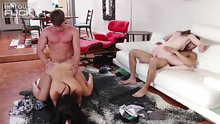Young swinger couples in unpaid foursome fuck - Rachel ford