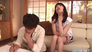 Nipponese naughty cougar crazy porn video