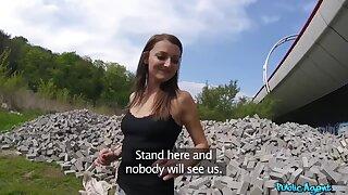 POV alfresco pussy fuck down Katy Rose & Martin Gun