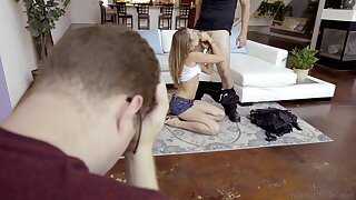 Teen old bag taped down secret straight away  cheating